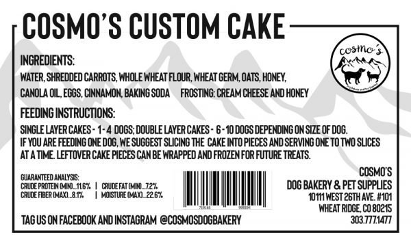 Cake Label with Barcode