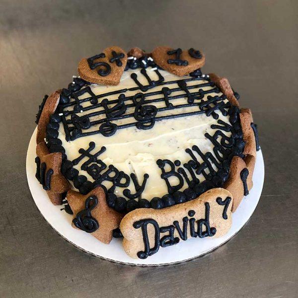 music bday cake