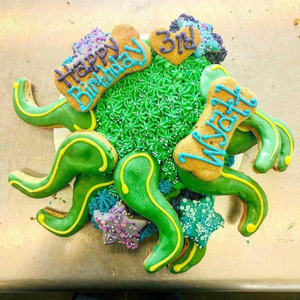 octopus bday cake