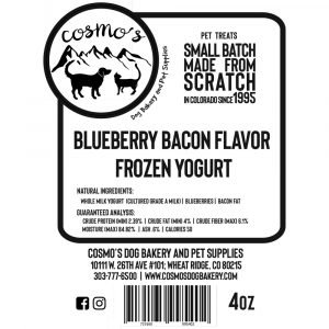 Blueberry Bacon Frozen Yogurt Label 1