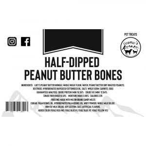Half Dipped Peanut Butter Bone 1