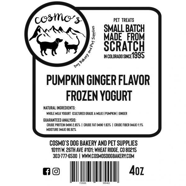 Pumpkin Ginger Frozen Yogurt Label
