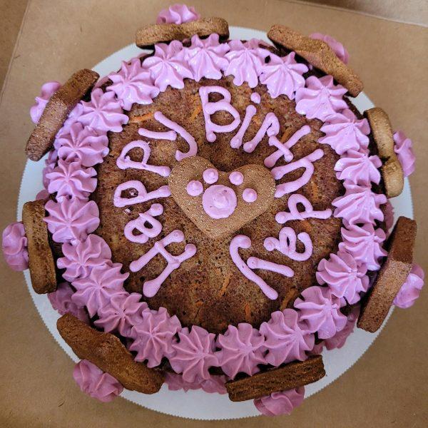 Birthday Cakes purple frosting