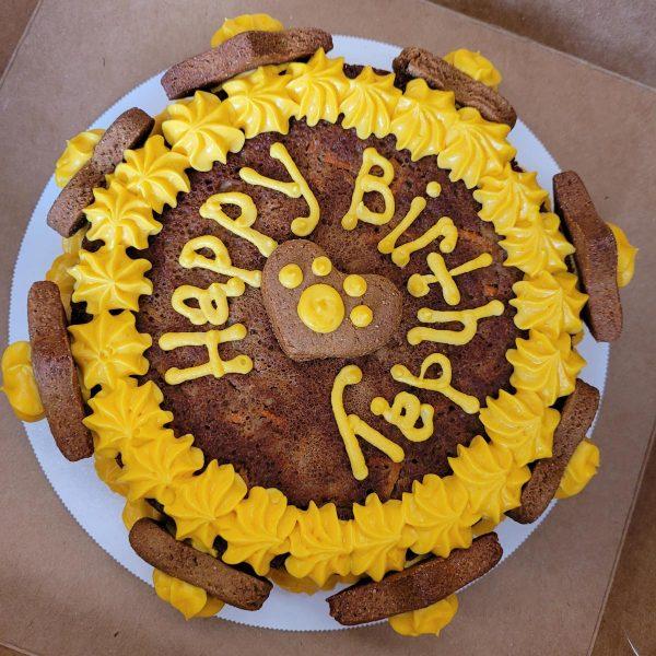 Birthday Cakes yellow frosting