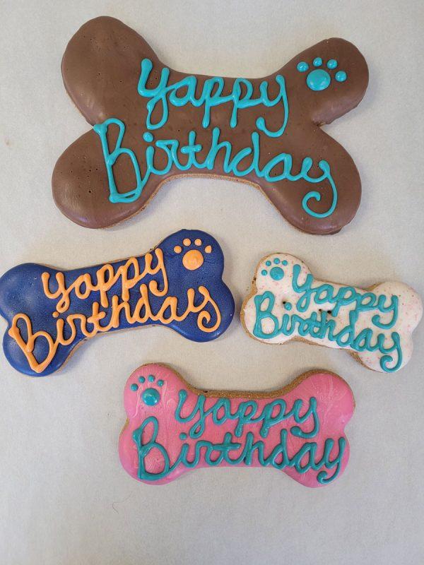 Yappy Birthday Bones four dog treats
