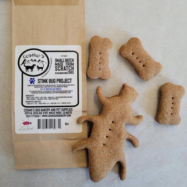 stink bug project biscuits label bag dog treats